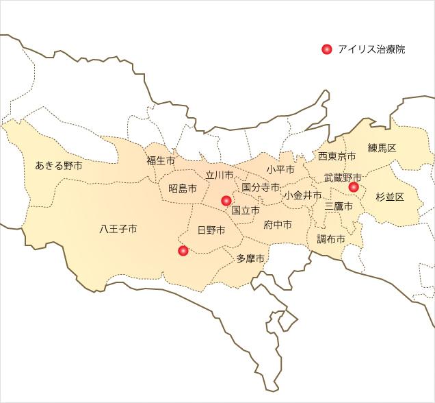 対応エリア(東京)